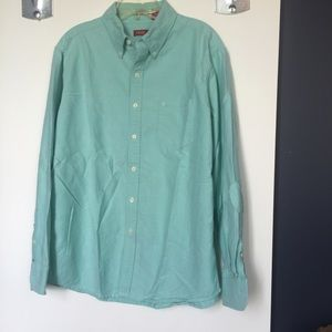 Izod Other - Izod Slim Fit teal green Oxford button down shirt