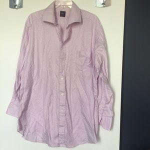 Ike Behar Other - Ike Behar purple plaid button down shirt L