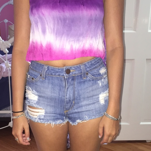56% off BDG Pants - Urban Outfitters High waisted cheeky shorts ...