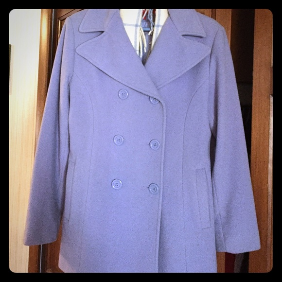 wide selection of designs quality products pretty nice Anne Klein periwinkle pea coat SZ SM, Beautiful