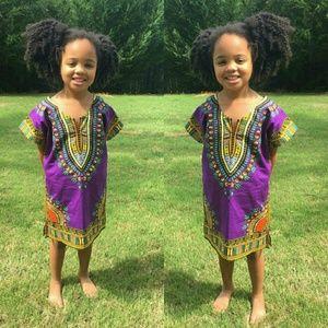 Other - Purple Kids dashiki fits size  age 4 to 8