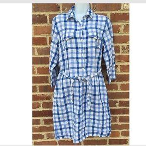 J. McLaughlin Dresses & Skirts - J. McLaughlin Linen Gingham Dress