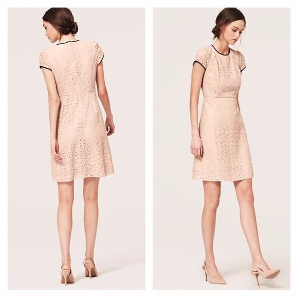 65 Off Loft Dresses Amp Skirts Loft Light Peach Piped