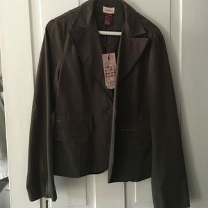 Buffalo David Bitton Jackets & Blazers - Buffalo army green cotton blazer jacket NWT