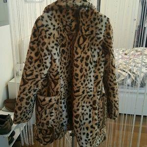Leopard Fur Guess Coat Guess Faux wy8ONmn0v