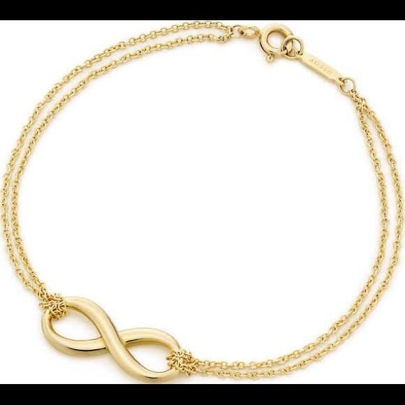 409f2070ac91f1 Tiffany & Co. Jewelry | Gold Tiffany Infinity Bracelet | Poshmark