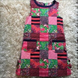 Adorable pink patchwork Lilly Pulitzer dress