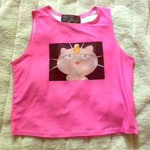 O-Mighty 🐱 Meowth Pokemon Crop Top