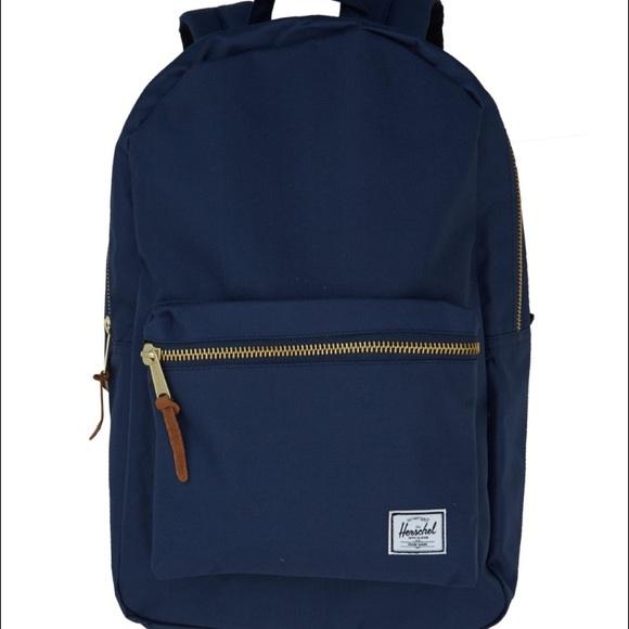 3ec9b026ea9 Herschel Supply Company Handbags - Herschel navy blue gold zipper backpack