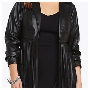 04f5e45a67edd Torrid Jackets   Coats - Torrid Fringe Cropped Faux Leather Jacket