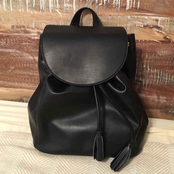 Old Navy - NWT Old Navy black Faux Leather Backpack Purse from ...