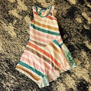 Truly Me  Other - Truly Me Striped Asymmetrical Dress size 7
