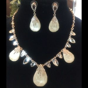 Jewelry - Rose gold in color neckless/ earring set