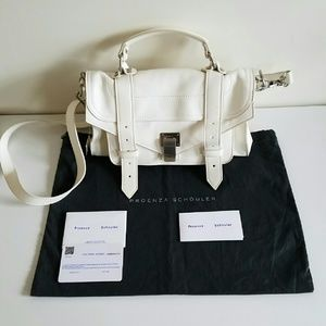 Proenza Schouler Handbags - Proenza Schouler white supple grained lambskin PS1
