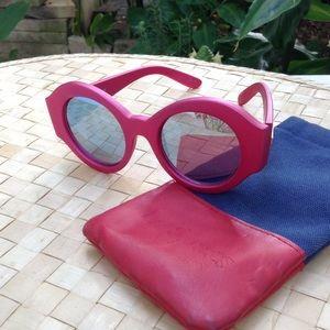 Le Specs Original Sin Fandango Pink Sunglasses,