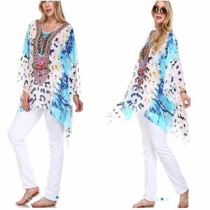 tla2 Tops - 💥HOST PICK 5/28💥PRINTED EMBELLISHED CAFTAN