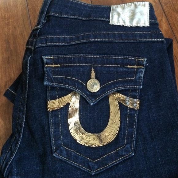 e49def44d True Religion Jeans | Gold Horseshoe Denim | Poshmark