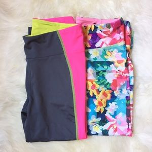 Live Love Dream Floral and Color Crop Leggings