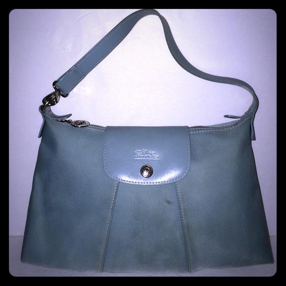 a9f7c5829ab4 Longchamp Handbags - Longchamp Blue Nylon   Leather Hobo Bag