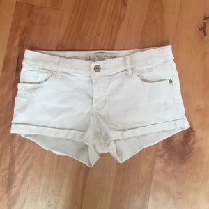 Abercrombie & Fitch Pants - A&F distressed white shorts