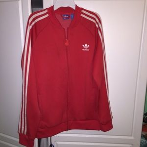 Adidas Red track suit jacket!