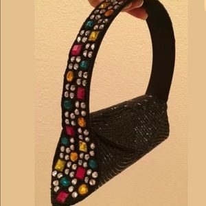 METRO Beaded Jewels Evening Bag Hand Made FRANCE!!