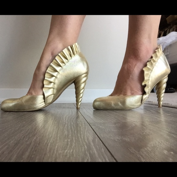 Jeffrey Campbell Shoes - Jeffrey Campbell Michelle Gold Unicorn Heels!