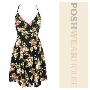 Dresses & Skirts - ADORABLE Lace Up Open Back Floral A Line Dress