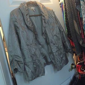 chicos light weight jacket.  Platinum color.