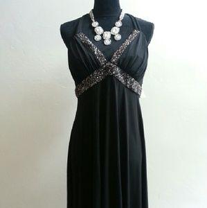 Black Halter Party Dress