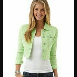 Jackets & Blazers - Never Been worn Green Denim Jacket