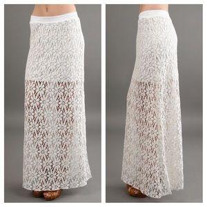 Testament  Dresses & Skirts - Cream Testament lace skirt