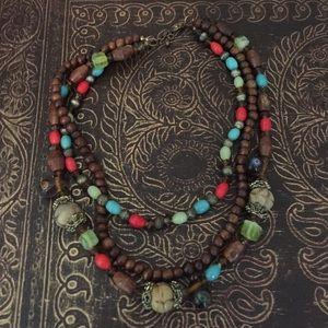 Jewelry - Wood bead necklace