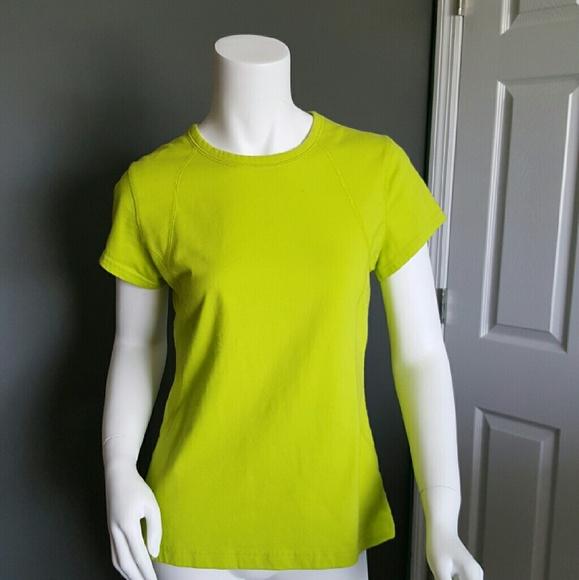 Bright Neon Chartreuse Activewear T-shirt - EUC