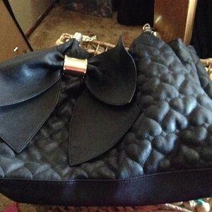 Betsy Johnson black bow bag ❌SALE❌