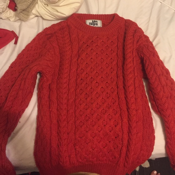 70% off Sweaters - Thick red sweater from Emma's closet on Poshmark