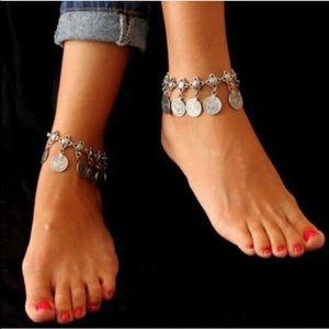Silver or Bronze Ankle Bracelet Anklet