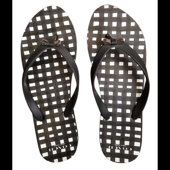 89de535df Coach Shoes - Authentic Coach New York Thong Flip Flops Sandals