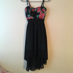 S Wet Seal floral high low dress