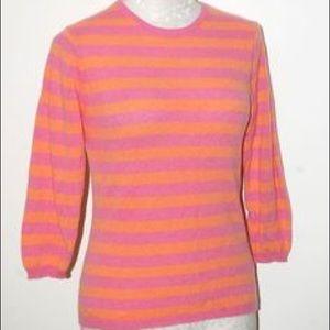 J. Crew Sweaters - J. Crew 3/4 Sleeve Striped Cotton Sweater Small