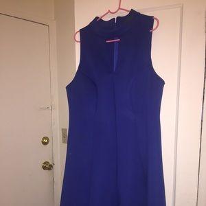 Royal blue Monif C high/low dress