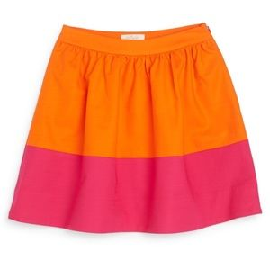 Kate Spade Colorblock Shirred Skirt