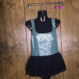 Asos Pants - Turquoise Sequin Romper