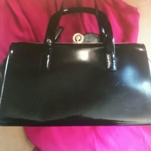 Alberta DI Canio  Handbags - Alberta DI  Canio Black Patent Leather Satchel NWO