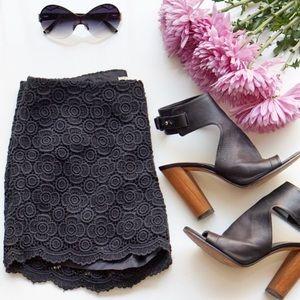 Banana Republic Pants - ❗️FINAL PRICE❗️NWT Black Lace Scalloped Shorts