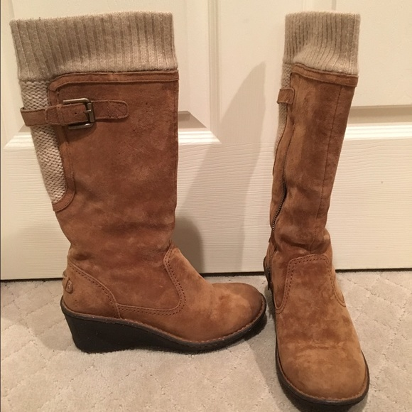 60 Off Ugg Shoes Ugg Skyfall Sweater Cuff Wedge Boots