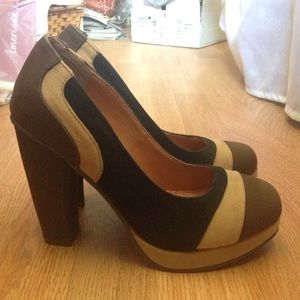Mark by Avon Shoes - Mark by Avon Tri-Color Platform Heels