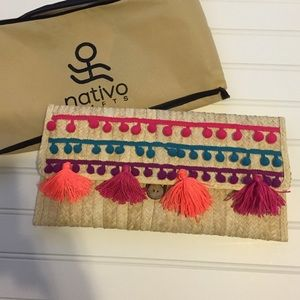 Nativo Handbags - NWT tropical palm clutch handmade by Nativo