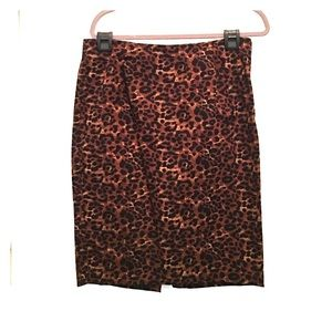 Old Navy Leopard Pencil Skirt Stretch