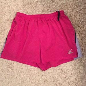 Mizuno pink/lavender running shorts XS